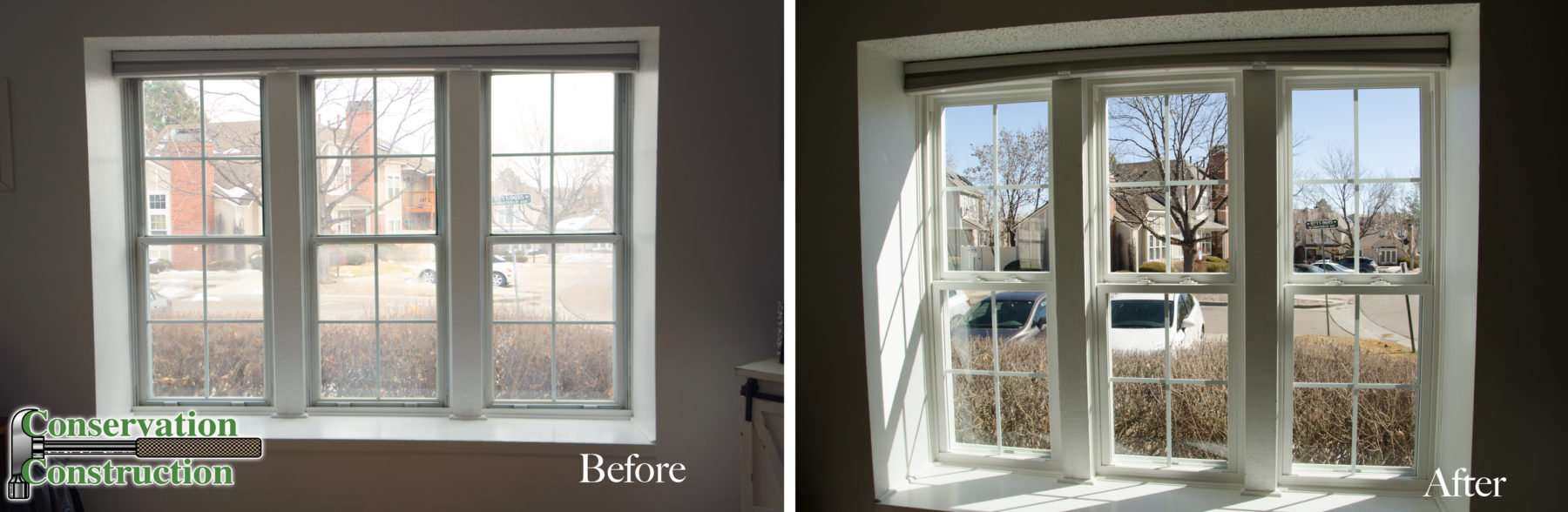 Before and After Windows, Conservation Construction, Window Replacement