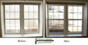 Before & After Windows, Conservation Construction, New Windows, Replacement Windows