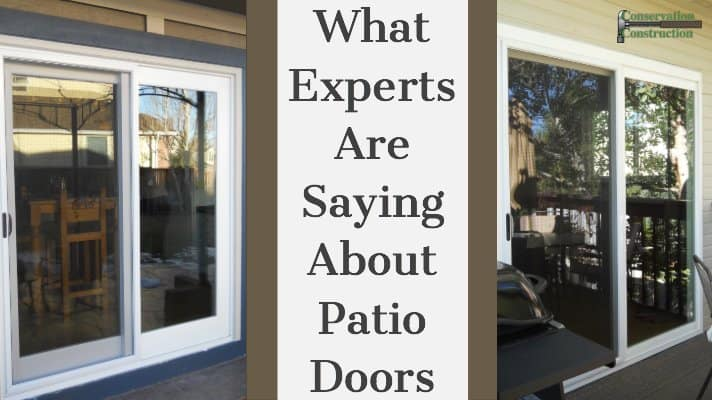 Conservation Construction, New Patio Doors, Replacement Patio Doors
